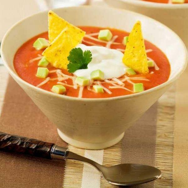 Receita sem glúten de Sopa fria de tomate e iogurte