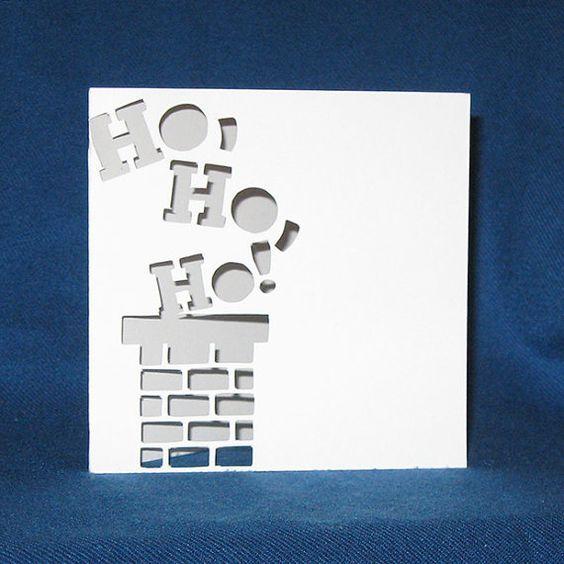 Handmade Merry Christmas Ho Ho Ho Card: