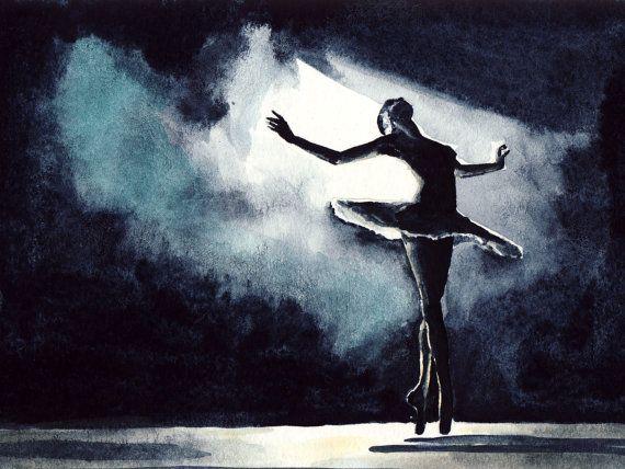 Black Swan Ballerine Performance Ballet Dancer  par LauraRowStudio