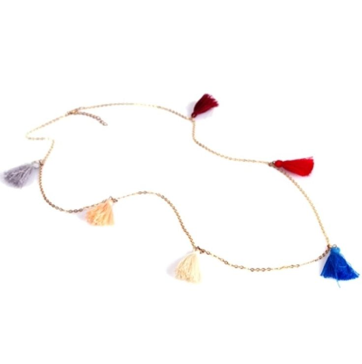 Tassel Belly Chain   Style: Body Jewelry - Belly ChainColour: Gold Chain - Tassles Assorted Colours*Please note, colours of tassles may be different to image.