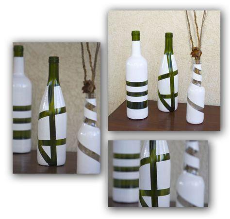 Como reciclar garrafas de vidro em lindos vasos
