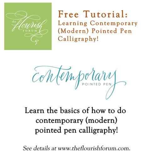 Contemporary modern calligraphy tutorial