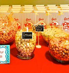 Popcorn Buffet   Experience! Events - Burlington Event and Wedding Planner | Dr. Seuss Cat in the Hat 1st Birthday