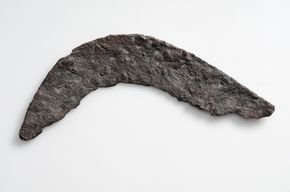 Sickle Iron The sickle was used to reap the harvest   Norrgårda, Vallstena, Gotland, Sweden. SHM 7597:6