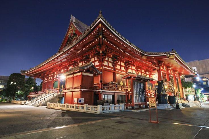 Sensoji Tempel in Tokio© iStockphoto  Dit is de meest bezochte en oudste tempel (uit 645) in Tokio. Er is onder andere een gouden beeld van de boeddhistische godin Kannon te zien. De tempel is gratis toegankelijk.