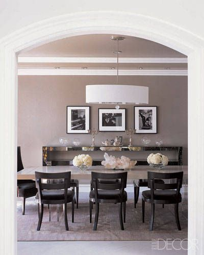 How fashion designers entertain at home grey dining roomsdining