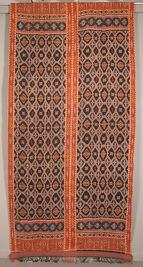 Traditional Indonesian textile, hand woven cotton with natural dyes