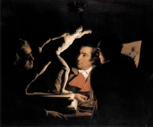 Three Persons Viewing the Gladiator by Candlelight - An Experiment on a Bird in the Air Pump - Wikipedia, the free encyclopedia