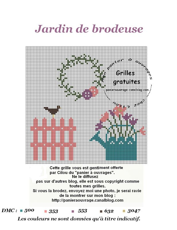 PANIERAOUVRAGE jardin brodeuse rouge