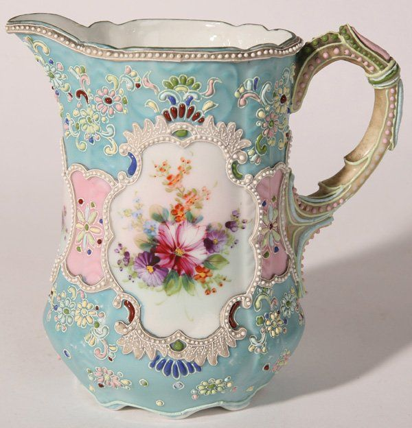 NIPPON MORIAGE & ENAMELED PITCHER :