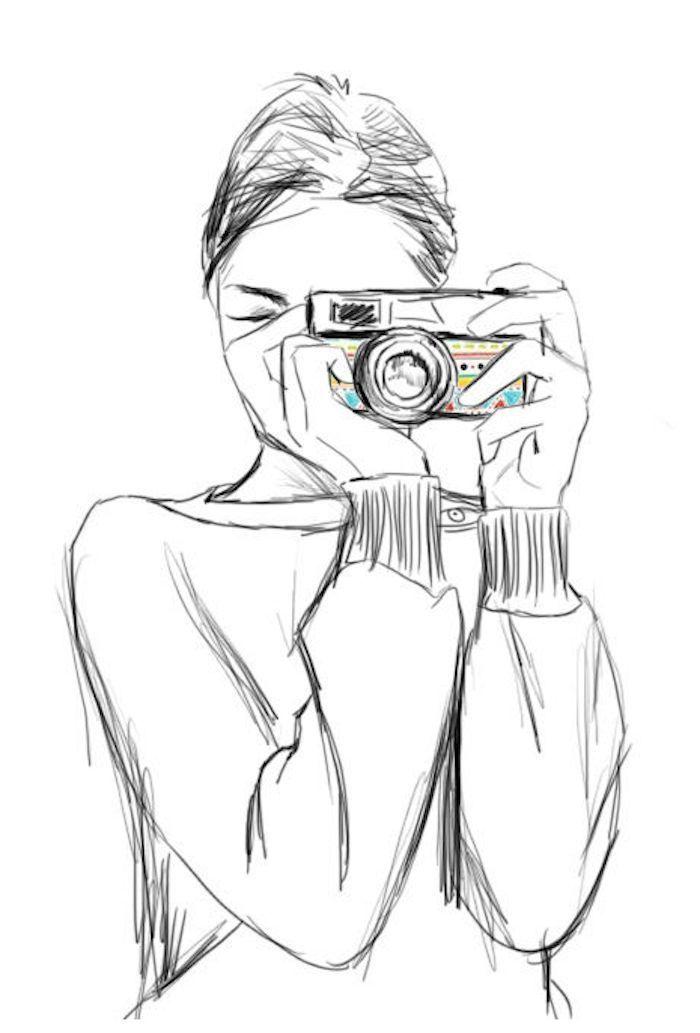 Videoanleitungen Illustration Nachzeichnen Fotoapparat Nachmalen Armeln Schone Langen Bilder Bluse Video Frau Mit U Sanat Illustration Sanatcilar