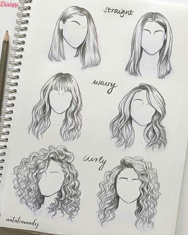 30+ superbes dessins de cheveux