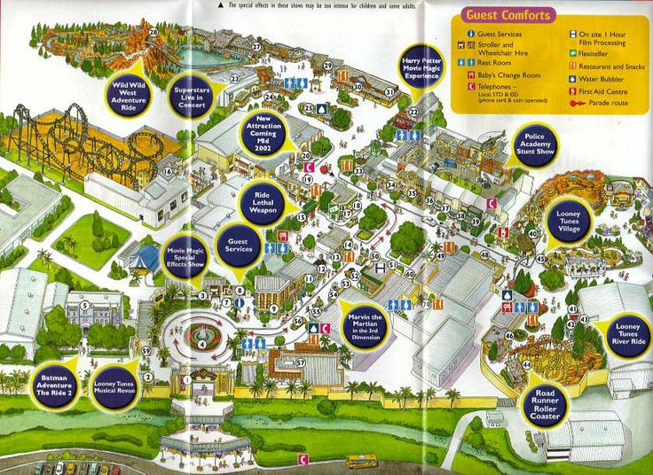 166 best theme park maps images on pinterest theme park map warner brothers world gumiabroncs Images