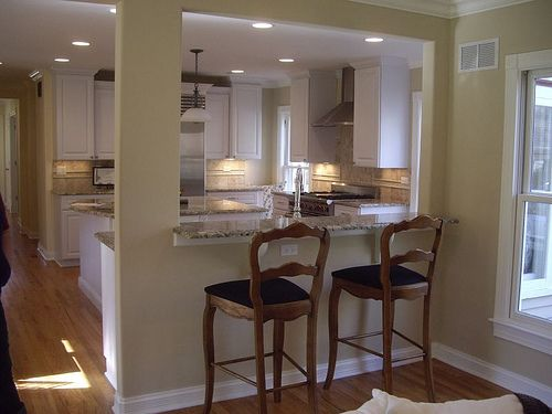 breakfast bar view into kitchen from family room. | Flickr - Photo Sharing!