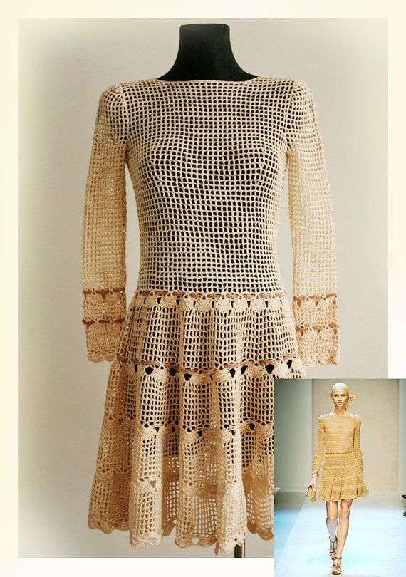 Women's dress / Crochet  Pattern No 555 by Illiana on Etsy, $4.99