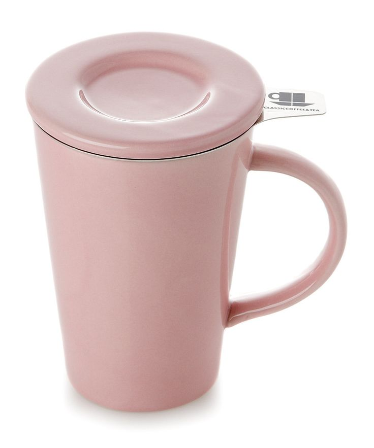 Yedi Houseware Pink Friendly Tea Mug » Love that this has the infuser and the lid!