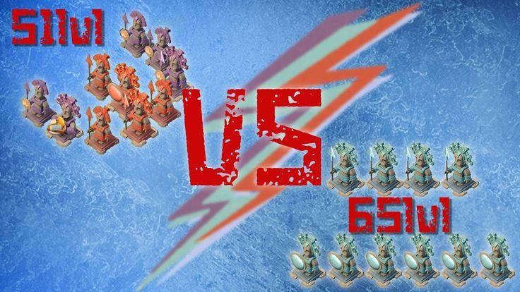 Boom beach - атака на игрока с 10-ю синими статуями - Бум бич (извиняюсь...