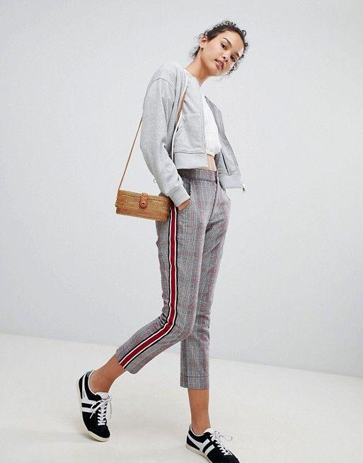 02ca1a8408af Hollister prince of wales check skinny pant | fashion | Pants ...