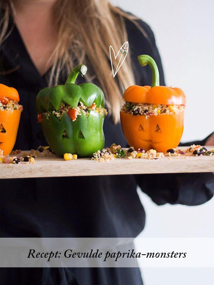 Recept: Gevulde paprika-monsters