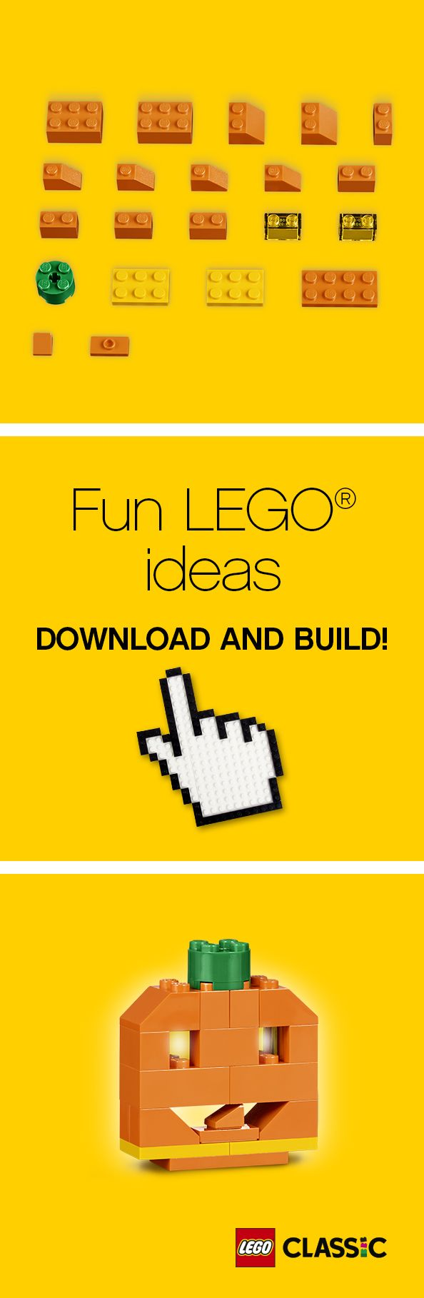 Time To Get Spooky! Find Out How To Build A LEGO Pumpkin, Perfect To