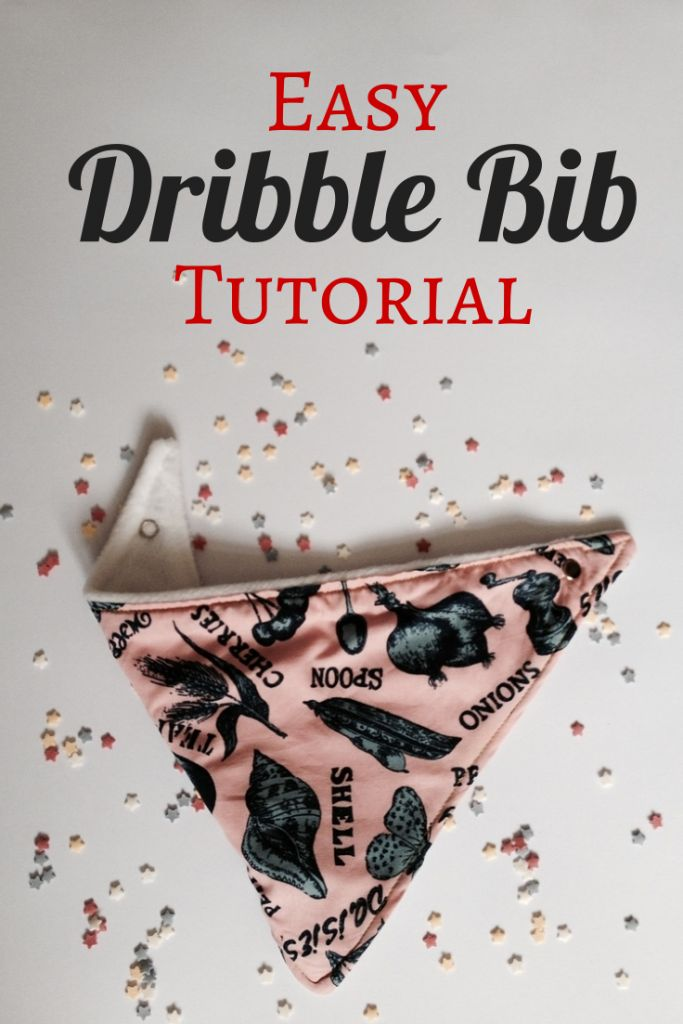 How to make a dribble bib, an east step by step tutorial that makes a great gift or is perfect for your own dribbley baby!