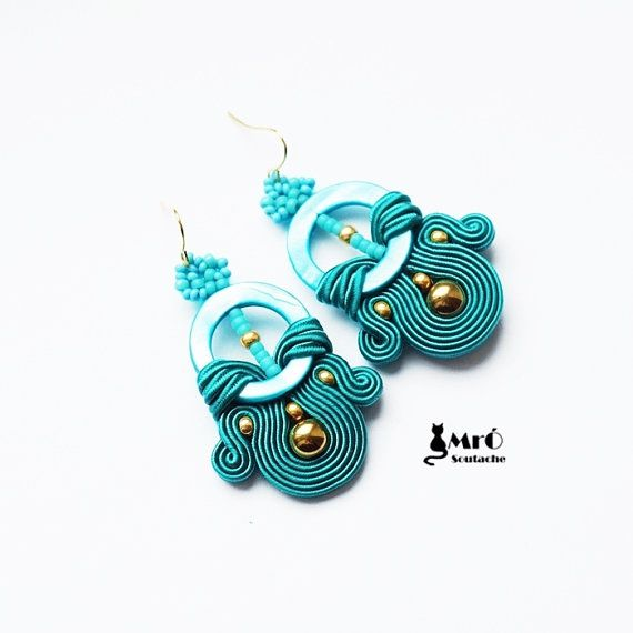 Hey, I found this really awesome Etsy listing at https://www.etsy.com/ru/listing/214899778/turquoise-and-gold-soutache-earrings