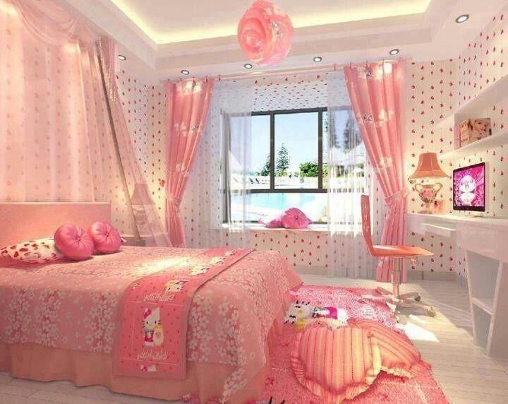 17 best ideas about hello kitty bedroom on pinterest for Cama kawaii