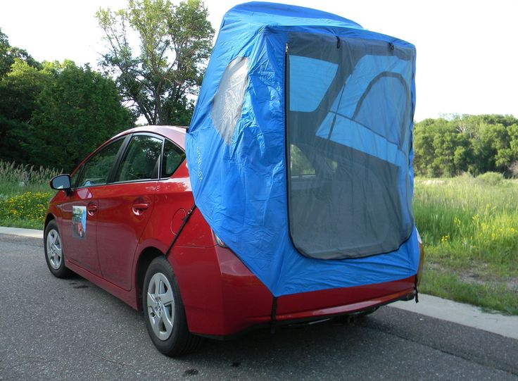 """""""Habitents"""" turn your compact hatchback vehicle into a camping tent. Hatchback Hacks 