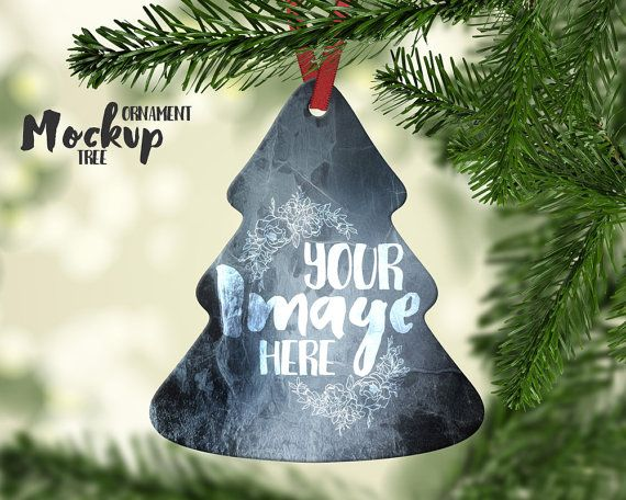 Tree Shaped Christmas Ornament mockup by styledproductmockups