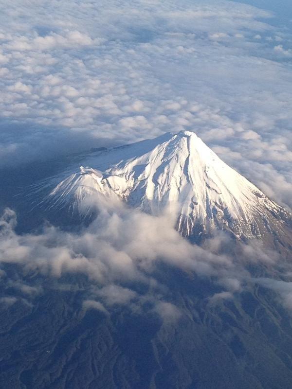 Mt Taranaki, New Zealand flying AirNZ