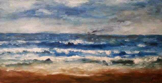 OBRA PICTORICA  DE JESUS OJEDA: Secuencia de olas