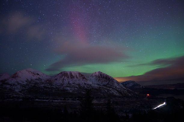 Pillar mountain, Kodiak, Alaska — by John Cannon. Lights from the north