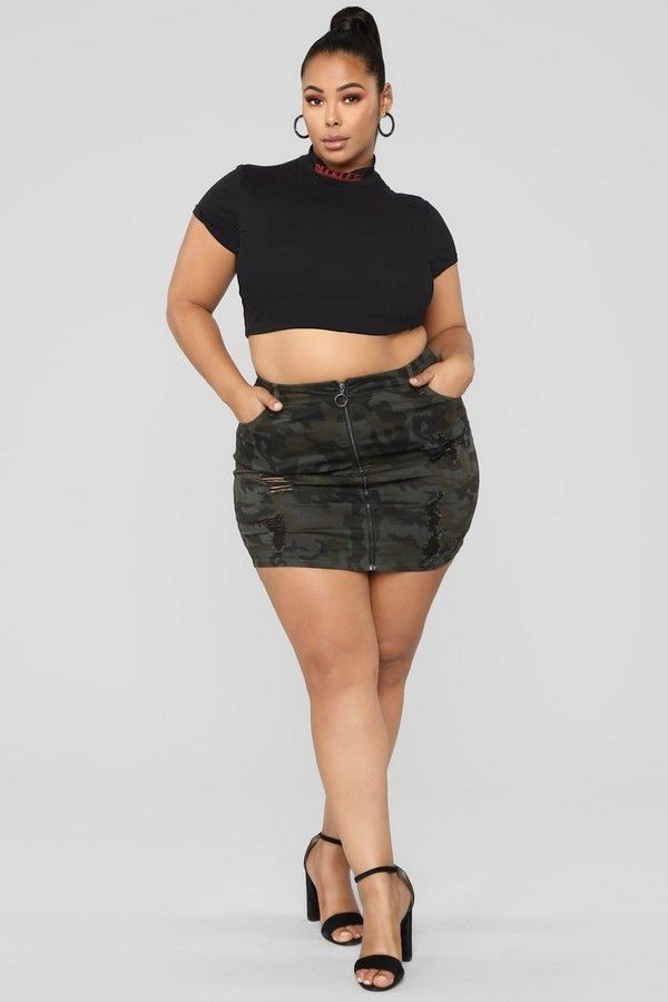 c6569a77976 Plus Size Natasha Distressed Camo Skirt - Camouflage  15.00  ootd  style   fashion  chic  outfits  outfit  fashionblog  plussize  skirts  trend   beauty  moda ...