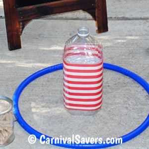 Use a Clear Water Bottle Decorated