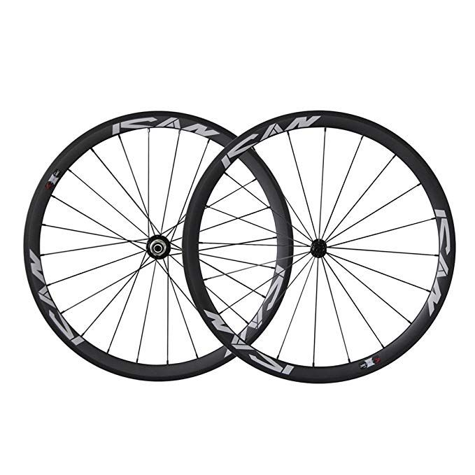 Ican 700c Lightweight Road Bike Carbon Wheelset Clincher 38mm