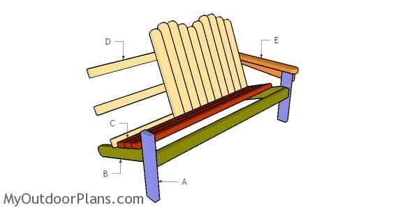 2x4 Adirondack Bench Plans Myoutdoorplans Free Woodworking Plans And Projects Diy Shed Wooden Playhou Bench Plans Wooden Playhouse Woodworking Plans Free