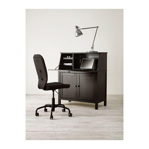 HEMNES Sekretär - schwarzbraun - IKEA