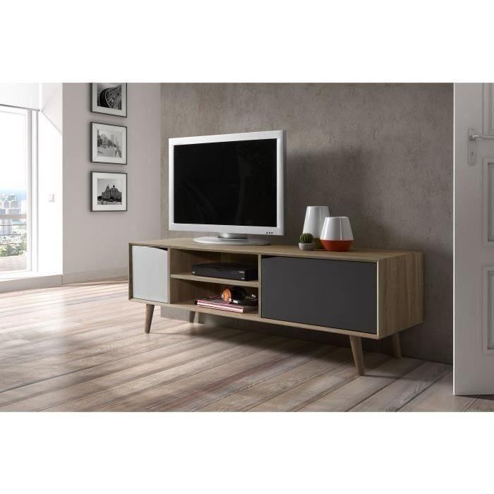 Les 25 meilleures id es concernant panneau bois massif sur for Petit meuble tv gris