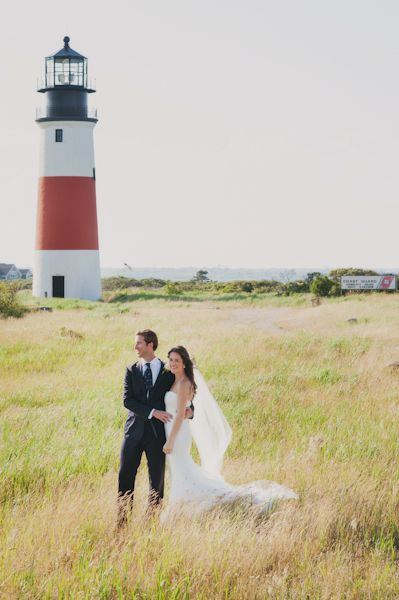 Vintage Nautical Nantucket Wedding. That lighthouse though... (!!!)