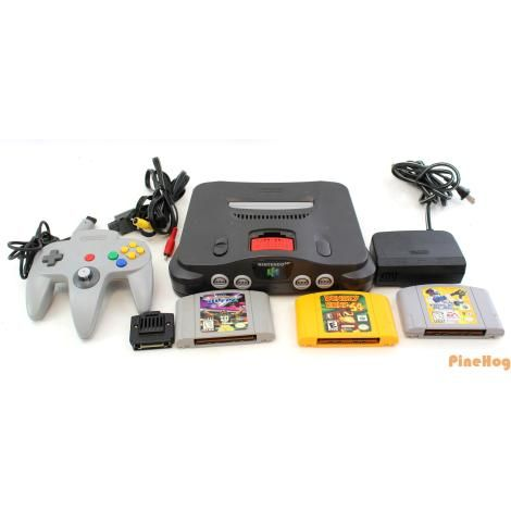 For Sale: Nintendo 64 NUS-001 Console With Two Controllers And Games