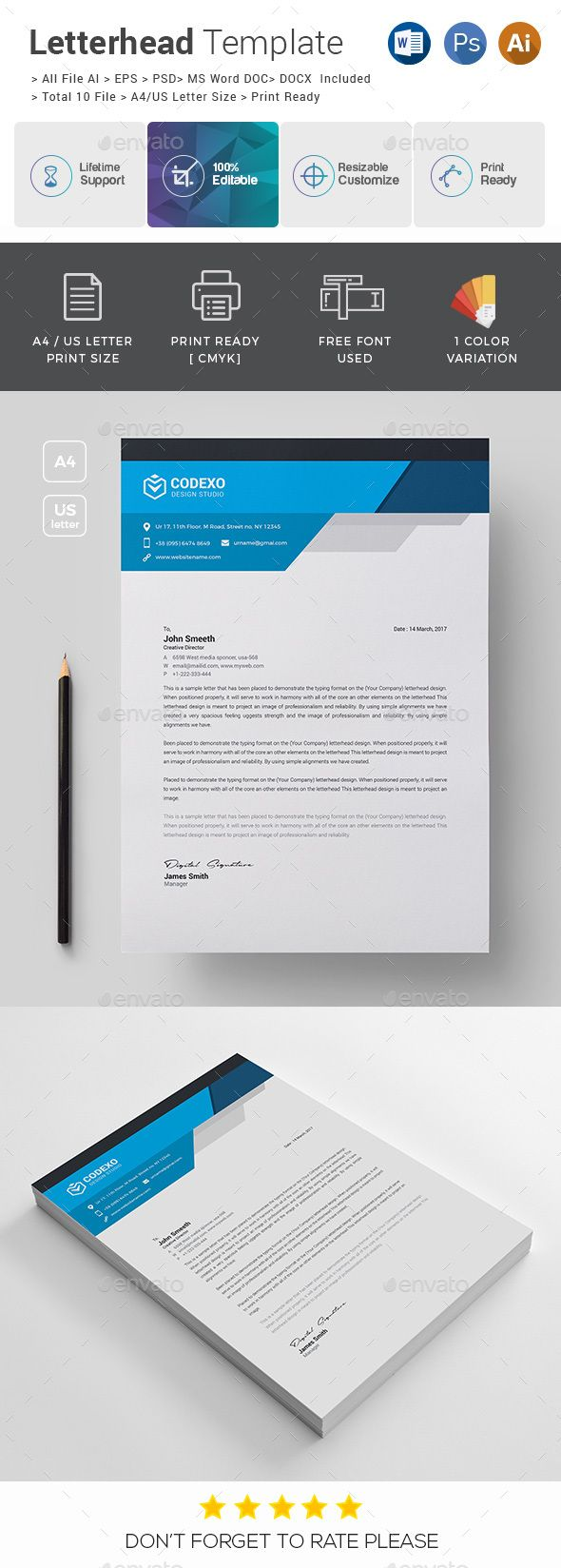 903 best letterhead design templates images on pinterest letterhead template psd vector eps ai illustrator ms word spiritdancerdesigns Image collections