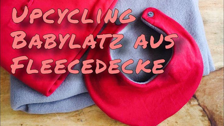 Upcycling Fleecedecke und T-Shirt / süßen Babylatz nähen ohne Schnittmuster für Anfänger geeignet - YouTube