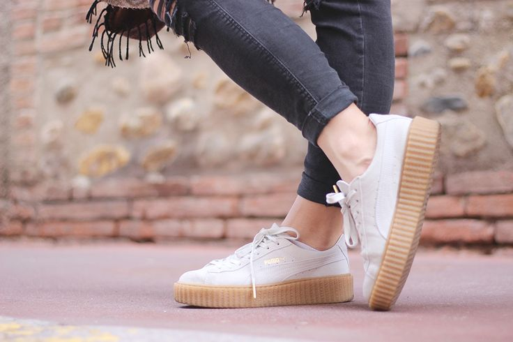 http://www.latestclothingtrends.com/category/puma/ Sneakers Creepers Rihanna x Puma Fenty Beige