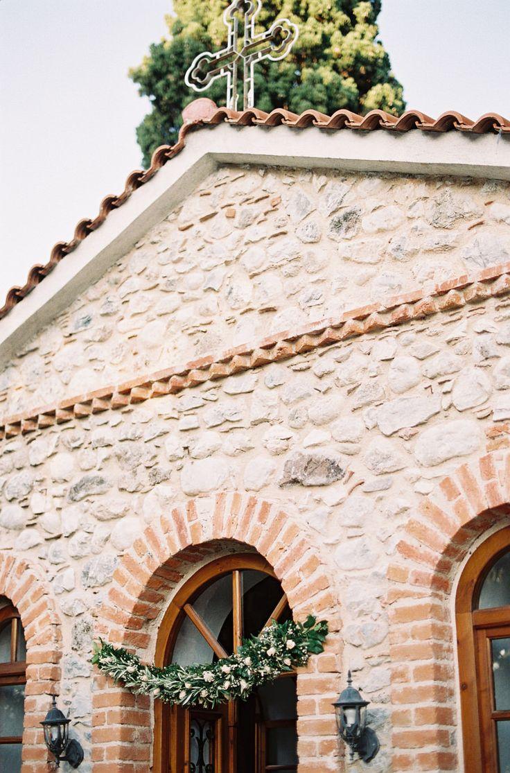 Irini and Stamatis' Elegant Coastal Greek Wedding - gorgeous exterior shot of the ceremony location   fine art film destination wedding photographers + greek wedding photographer Les Anagnou