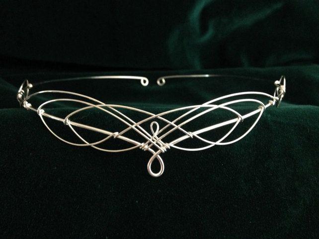 Medieval Celtic Elven Inspired Silver Wedding Circlet Tiara £30.00