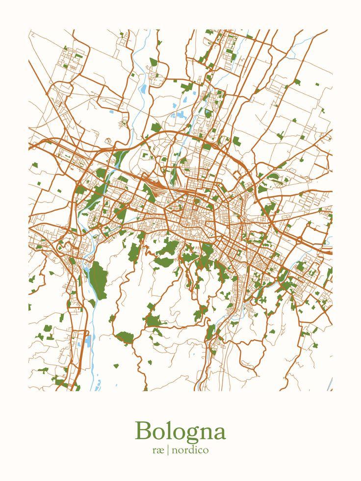 Bologna, Italy Map Print