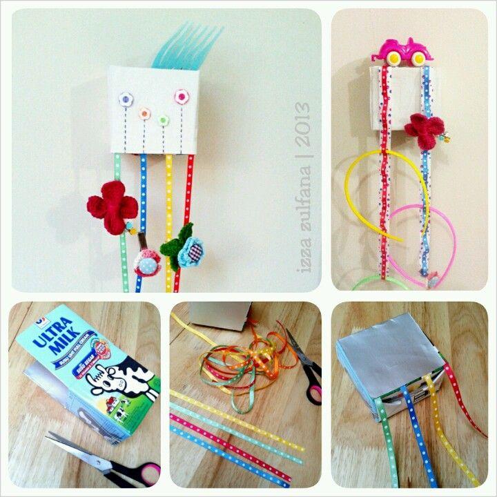 accessories organizer from milkcarton or tetrapack