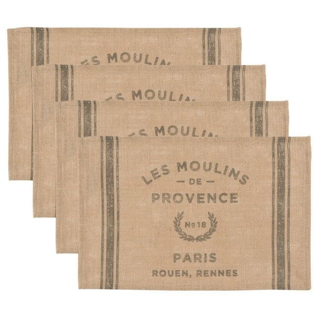 Gifts For Her Charming French Inspired Hostess Gifts Shopping Guide Diy Burlap Placemats Burlap Crafts Diy Diy Burlap