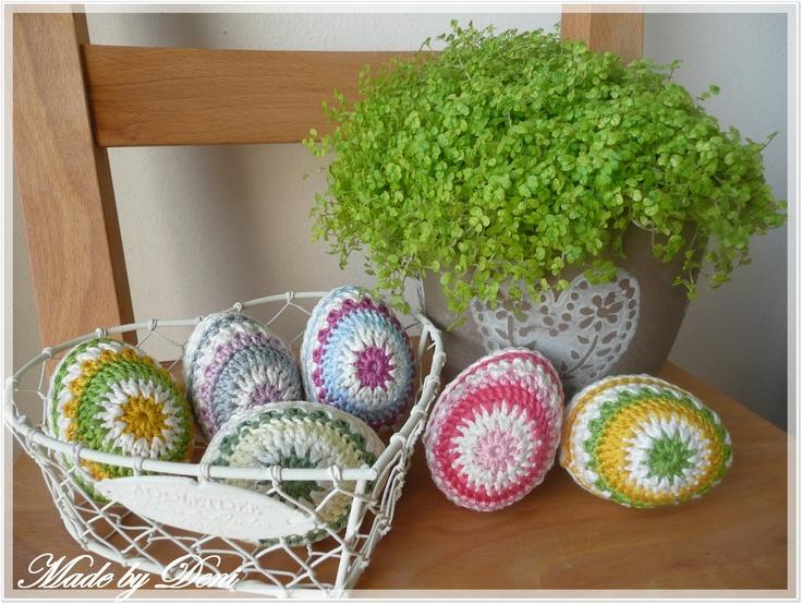 Návod na háčkované vajíčka / Free crochet eggs pattern