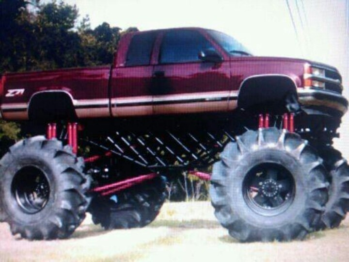 big lifted chevy trucks - photo #44